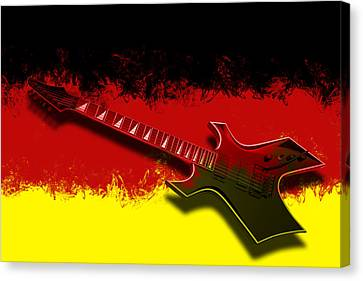 E-guitar - German Rock II Canvas Print by Melanie Viola