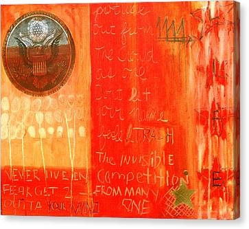 E Pluribus Unum Canvas Print by Nik Olajuwon Shumway