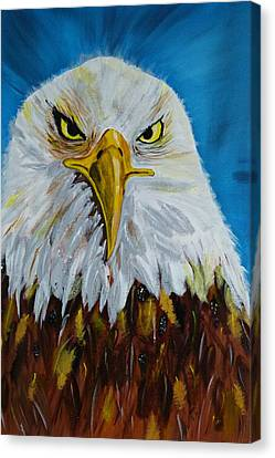 Canvas Print featuring the painting Eagle by Ismeta Gruenwald