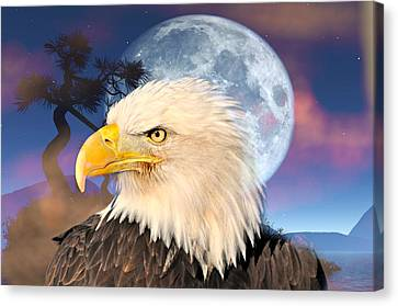 Eagle Moon Canvas Print by Marty Koch
