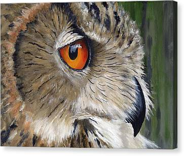 Eagle Owl Canvas Print by Mike Lester