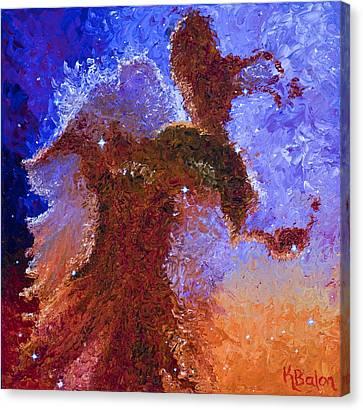 Eagle Rising Canvas Print by Karen Balon
