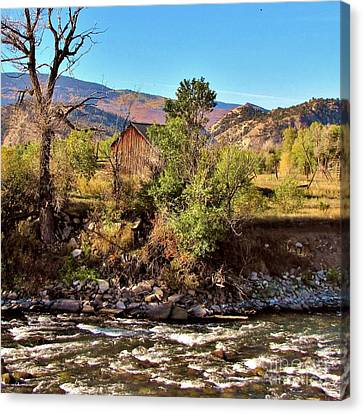 Eagle River Solitude Canvas Print by Marilyn Smith
