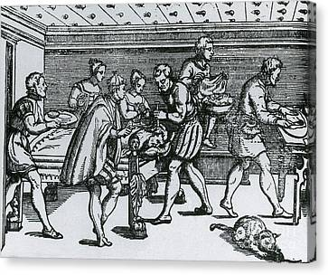 Earliest Depiction Of Craniotomy Canvas Print by Science Source