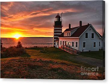 Earliest Sunrise In The United States Canvas Print by Jack Schultz