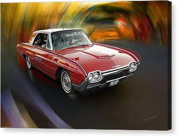 Early 60s Red Thunderbird Canvas Print