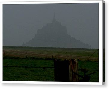 Canvas Print featuring the photograph Early Am Approach To Le Mont-michel by Frank Wickham