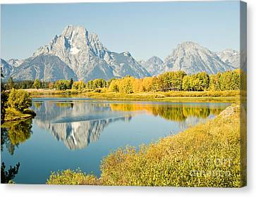 Early Autumn At Oxbow Bend Canvas Print by Bob and Nancy Kendrick