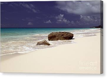 Early Evening At Surf Side Beach Canvas Print by John Gaffen