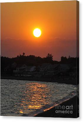Canvas Print featuring the photograph Early Evening Sunset by Cindy Lee Longhini
