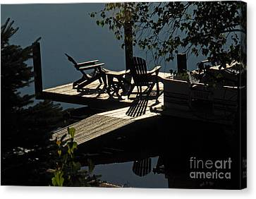 Canvas Print featuring the photograph Early Morning At The Lake by Cindy Manero