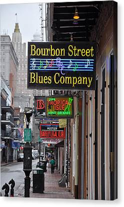 Early Morning Bourbon Street Canvas Print by Bill Cannon