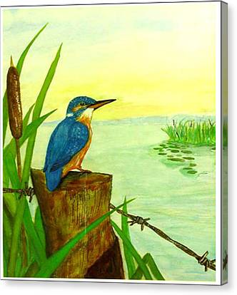 Early Morning Fisher Canvas Print by Peter Edward Green