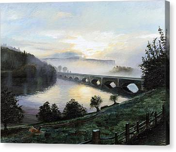 Early Morning Mist Canvas Print by Trevor Neal