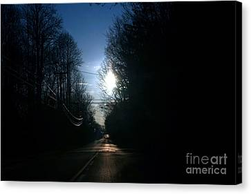 Early Morning Rural Road Canvas Print by Susan Stevenson