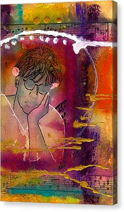 Early Morning Songwriter Canvas Print by Angela L Walker