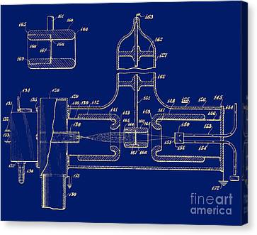 Early Patent For Accelerator, 1937 Canvas Print by Science Source