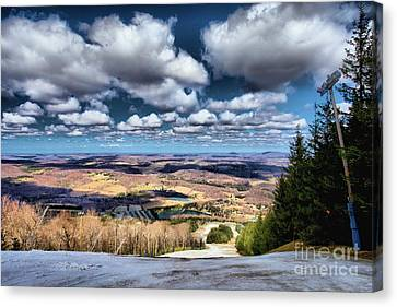 Snow Melt Canvas Print - Early Spring by Adam Jewell