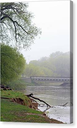 Canvas Print featuring the photograph Early Spring Morning Fog by Kay Novy