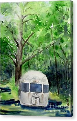 Canvas Print featuring the painting Early Summer At The Geddes Farm 1 --ann Arbor  Michigan by Yoshiko Mishina