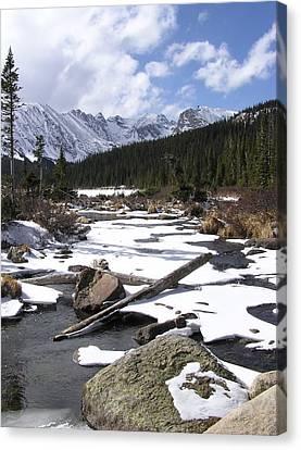 Early Winter At Long Lake Canvas Print
