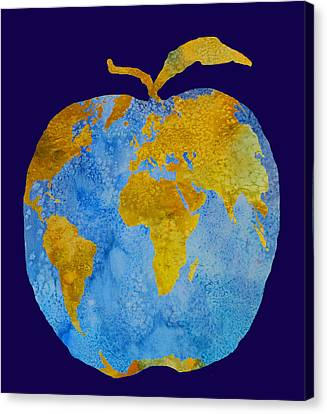 Apple Canvas Print - Earth Apple by Jenny Armitage