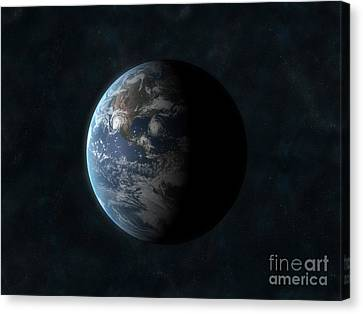 Earth Canvas Print by Carbon Lotus