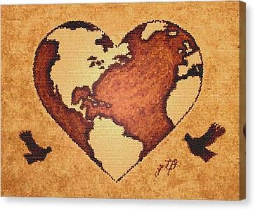 Earth Day Gaia Celebration Digital Art Canvas Print by Georgeta  Blanaru