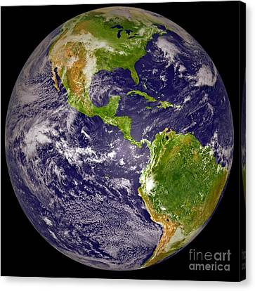 Earth From Space 2 Canvas Print