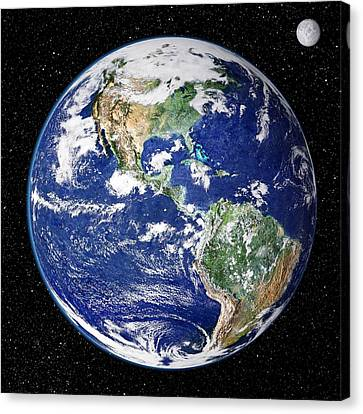 Earth From Space, Satellite Image Canvas Print by Nasa Goddard Space Flight Center (nasa-gsfc)