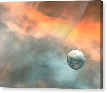 Canvas Print featuring the digital art Earth by John Pangia