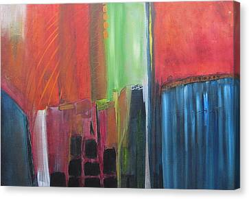 Canvas Print featuring the painting Earth Layers by Nicole Nadeau