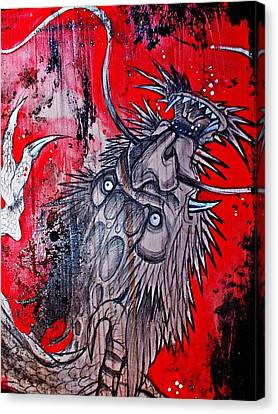 Canvas Print featuring the painting Earth Spirit by Sandro Ramani