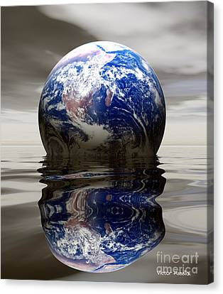 Earth Canvas Print by Victor Habbick Visions and Photo Researchers