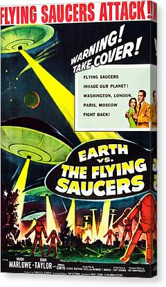 Earth Vs. The Flying Saucers, 1956 Canvas Print by Everett