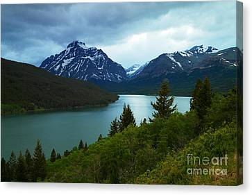 East Glacier Canvas Print by Jeff Swan