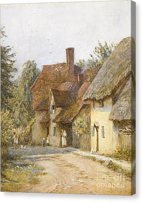 East Hagbourne Berkshire Canvas Print by Helen Allingham