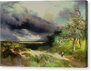 East Hamptonlong Island Sand Dunes Canvas Print by Thomas Moran