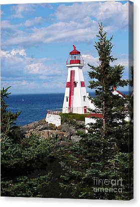 East Quoddy Head Lighthouse Canvas Print by Jeanne  Woods
