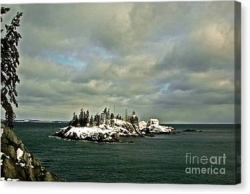 East Quoddy Lighthouse Canvas Print by Alana Ranney