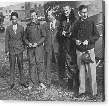 East-to-west Flight Crew And Designer Canvas Print by Science, Industry & Business Librarynew York Public Library