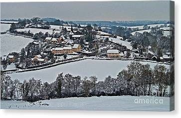 East Worlington In The Snow  Canvas Print by Rob Hawkins