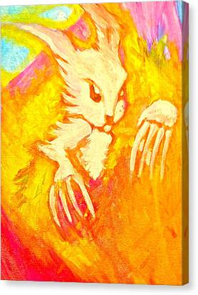 Easter Earthquake Canvas Print by Zitlalli Rodriguez