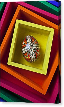 Container Canvas Print - Easter Egg In Box by Garry Gay