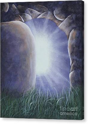 Canvas Print featuring the painting Easter Morning by Kristi Roberts