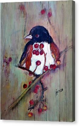 Easter Towhee Canvas Print by Amalia Jonas