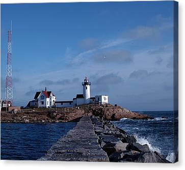 Canvas Print featuring the photograph Eastern Point Light by Mike Martin