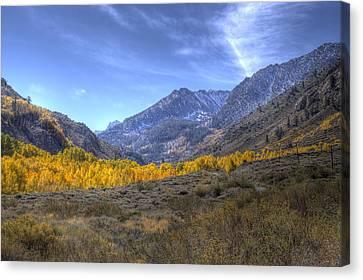 Eastern Sierras In Fall Canvas Print by Michele Cornelius