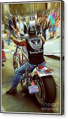 Easy Rider Canvas Print by Padamvir Singh