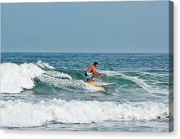 Easy Surfing  Canvas Print by Ann Murphy